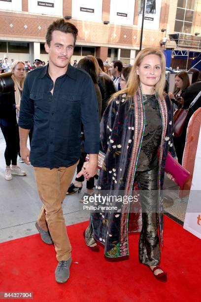 Rupert Friend and Aimee Mullins attend 'The Death of Stalin' premiere during the 2017 Toronto International Film Festival at Winter Garden Theatre on...