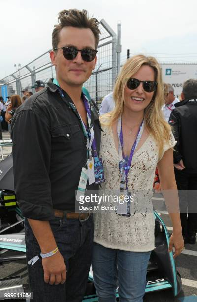 Rupert Friend and Aimee Mullins attend the Formula E 2018 Qatar Airways New York City EPrix the double header season finale of the 2017/18 ABB FIA...