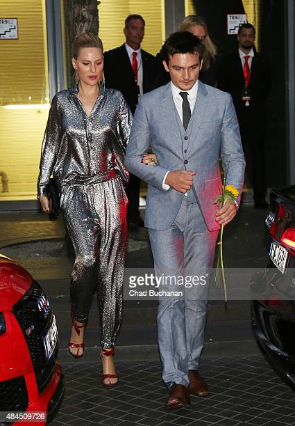 Rupert Friend and Aimee Mullins sighted at the Sony Center on August 19 2015 in Berlin Germany