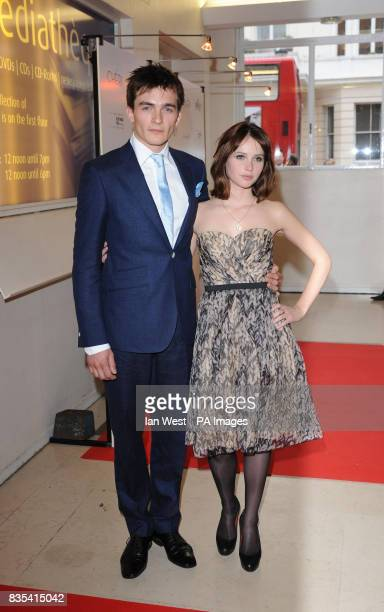 Rupert Friend and Felicity Jones arrive for the UK premiere of Cheri at the Cine Lumiere London