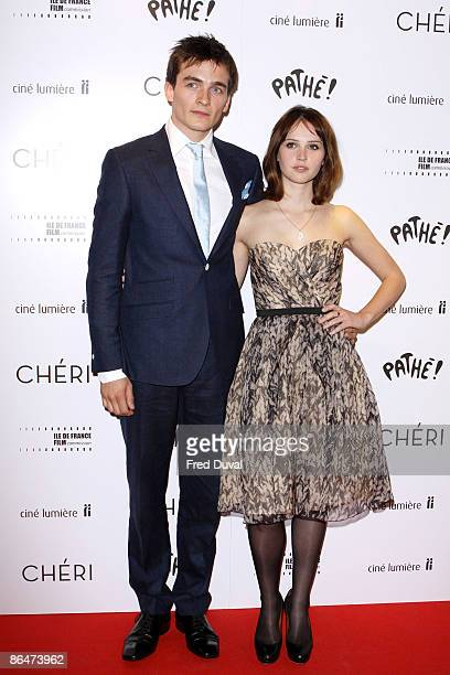 Rupert Friend and Felicity Jones attend the UK premiere of 'Cheri' at Cine Lumiere on May 6 2009 in London England