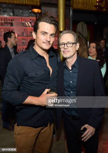 Rupert Friend and Steve Buscemi attend IFC's 'The Death Of Stalin' Cocktail Reception at Pravda Vodka Bar on September 8 2017 in New York City