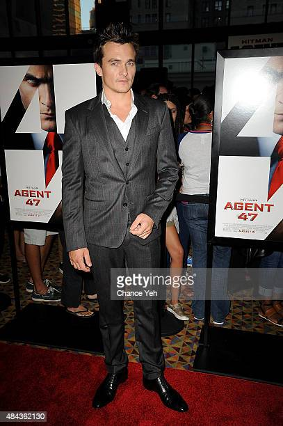 Rupert Friend attends 'Hitman Agent 47' New York premiere at AMC Empire 25 theater on August 13 2015 in New York City
