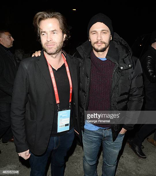 Rupert Goold and actor James Franco attend the 'True Story' premiere during the 2015 Sundance Film Festival on January 23 2015 in Park City Utah