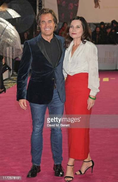 """Rupert Goold and Kate Fleetwood attend the European Premiere of """"Judy"""" at The Curzon Mayfair on September 30, 2019 in London, England."""