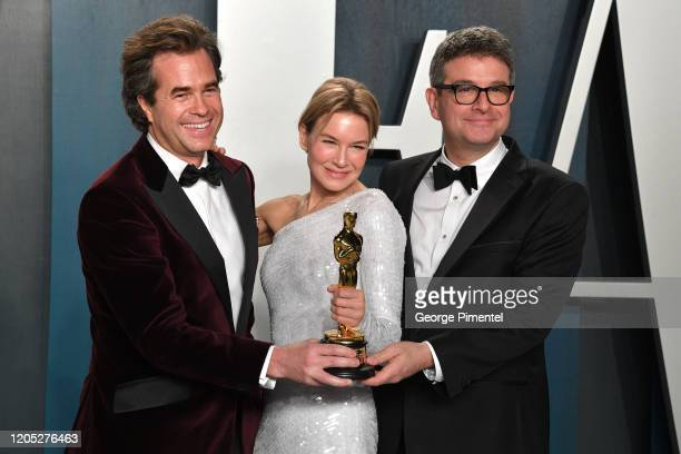 Rupert Goold Renée Zellweger and David Livingstone attend the 2020 Vanity Fair Oscar party hosted by Radhika Jones at Wallis Annenberg Center for the...