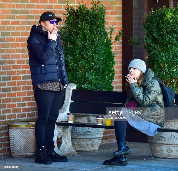Rupert Grint and Georgia Groome are seen in Soho on March 17 2017 in New York City