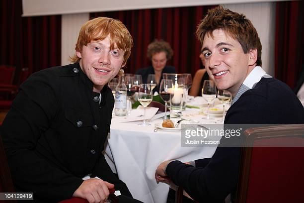 Rupert Grint and James Phelps during the Shooting Stars Benefit 2010 Golf pairing dinner in aid of Samuel L Jackson foundation and Swiss Red Cross on...