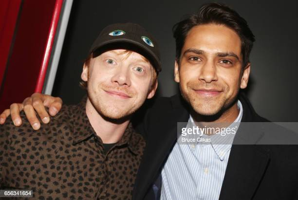 Rupert Grint and Luke Pasqualino pose backstage as they promote their Sony Crackle series 'Snatch' at The Robin Williams Theater on March 21 2017 in...