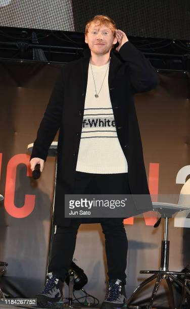 Rupert Grint attends a talk during the Tokyo Comic Con 2019 at Makuhari Messe on November 24 2019 in Chiba Japan