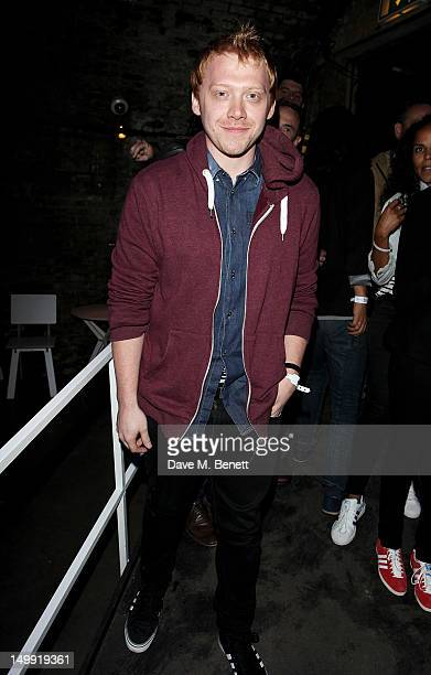 Rupert Grint attends as The Stone Roses perform a secret gig at adidas Underground on August 6 2012 in London England