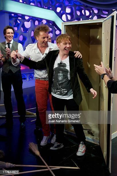 Rupert Grint attends 'El Hormiguero' Tv Show at Vertice Studio on June 29, 2011 in Madrid, Spain.