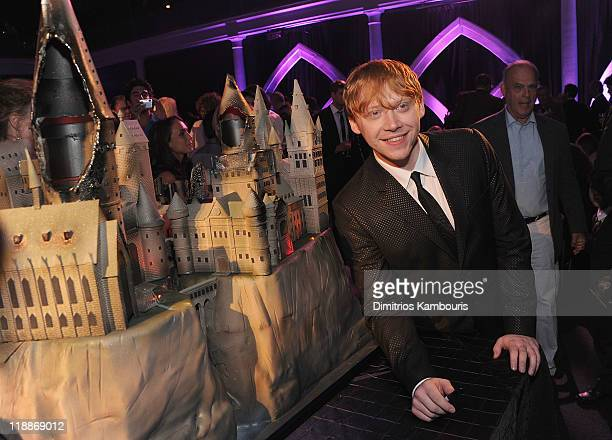 Rupert Grint attends the after party for the premiere of 'Harry Potter and the Deathly Hallows Part 2' at American Museum of Natural History on July...