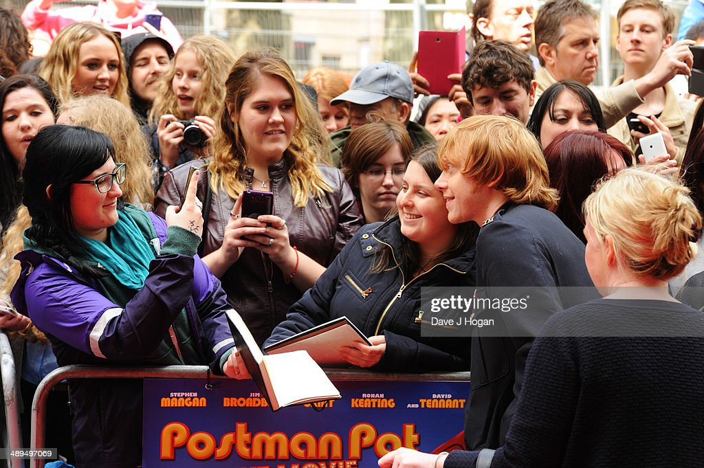 Rupert Grint attends the UK premiere of 'Postman Pat' at the Odeon West End on May 11, 2014 in London, England.