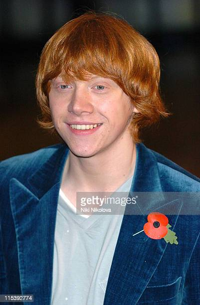 Rupert Grint during Harry Potter and the Goblet of Fire World Premiere Arrivals at Odeon Leicester Square in London United Kingdom