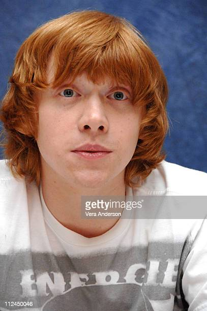 Rupert Grint during Harry Potter and the Order of the Phoenix Press Conference with Daniel Radcliffe Rupert Grant Emma Watson David Yates and Imelda...