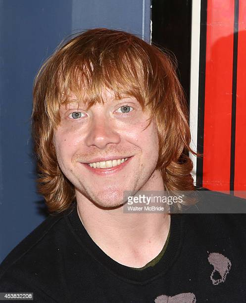 Rupert Grint during the press conference for 'It's Only a Play' at Joe Allen Restaurant on August 19 2014 in New York City