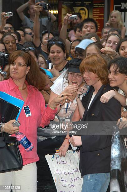 Rupert Grint greets fans during 'Harry Potter and The Prisoner of Azkaban' New York Premiere Red Carpet at Radio City Music Hall in New York City New...