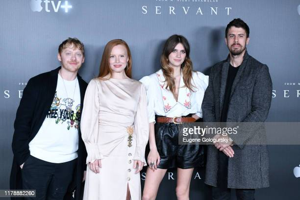 Rupert Grint Lauren Ambrose Nell Tiger Free and Toby Kebbell attend Servant Panel during New York Comic Con at Hammerstein Ballroom on October 03...