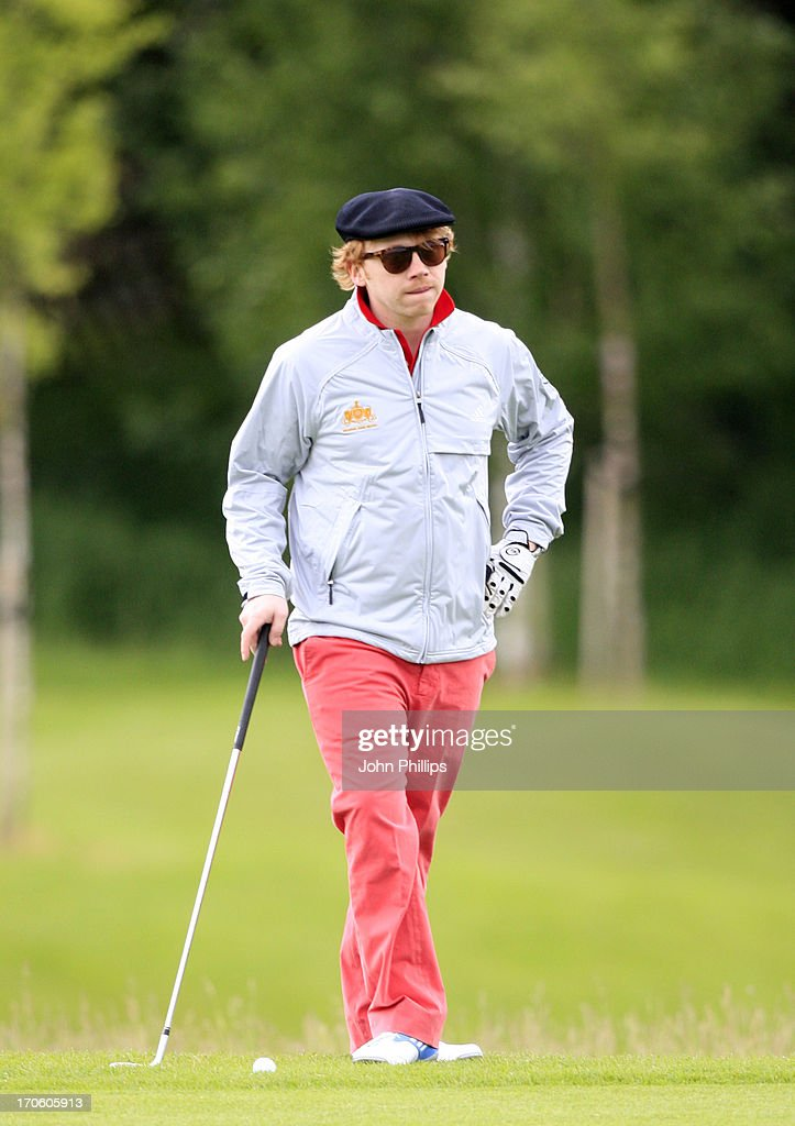 Rupert Grint looks on during the Affinity Real Estate Shooting Stars Second Round at The Grove Hotel on June 15, 2013 in Hertford, England.