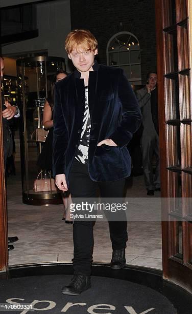 Rupert Grint seen leaving Asprey Store on June 13 2013 in London England