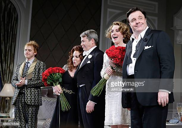 Rupert Grint Stockard Channing Matthew Broderick Megan Mulally Nathan Lane F Murray Abraham and Micah Stock perform It's Only A Play Broadway Opening...