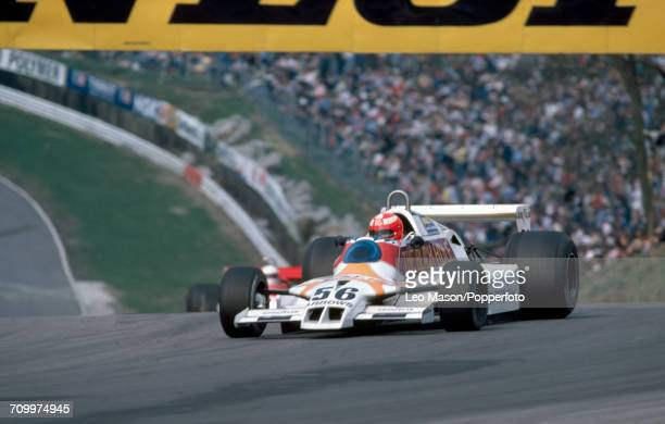 Rupert Keegan of Great Britain, driving an Arrows A1-Cosworth, enroute to winning the Aurora AFX Formula One Championship at Brands Hatch in 1979.