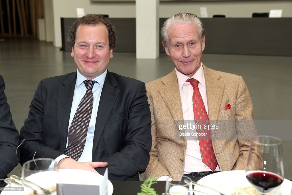 Rupert Keim (Karl & Faber) and Wolfgang Anselmino (Privatier) during the Gentlemen Art Lunch at Pinakothek der Moderne on March 13, 2017 in Munich, Germany.