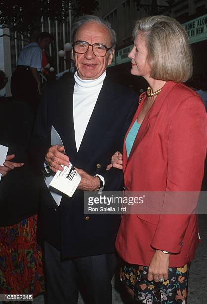 Rupert Murdoch and Anna Murdoch during 'Home Alone 2 Lost in New York' Premiere Hosted by United Artist Theatres at Century City in Century City CA...