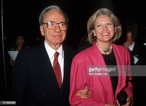 Rupert Murdoch and Anna Murdoch during Los Angeles Premiere of 'Hoffa' to Benefit Tripod Hoffa at Academy Theatre in Beverly Hills California United...