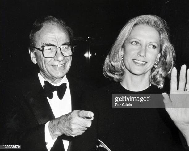 Rupert Murdoch and Anna Murdoch during 'Stop Cancer' Benefit Staged by Arman Hammer at World Financial Center in New York City New York United States