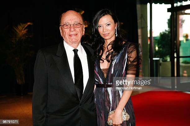 Rupert Murdoch and his wife Wendi Deng arrive at the White House Correspondents' Association dinner on May 1 2010 in Washington DC The annual dinner...