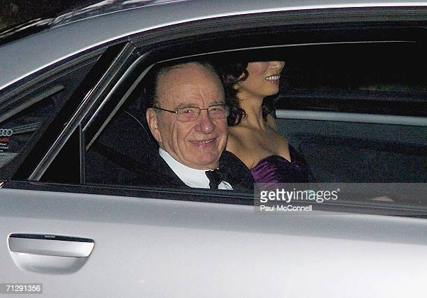Rupert Murdoch and his wife Wendy Deng arrive at St Patrick's College for the wedding of musician Keith Urban and actress Nicole Kidman on June 25...
