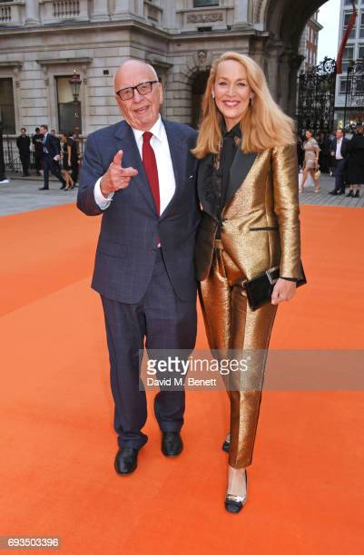 Rupert Murdoch and Jerry Hall attend the Royal Academy Of Arts Summer Exhibition preview party at Royal Academy of Arts on June 7 2017 in London...