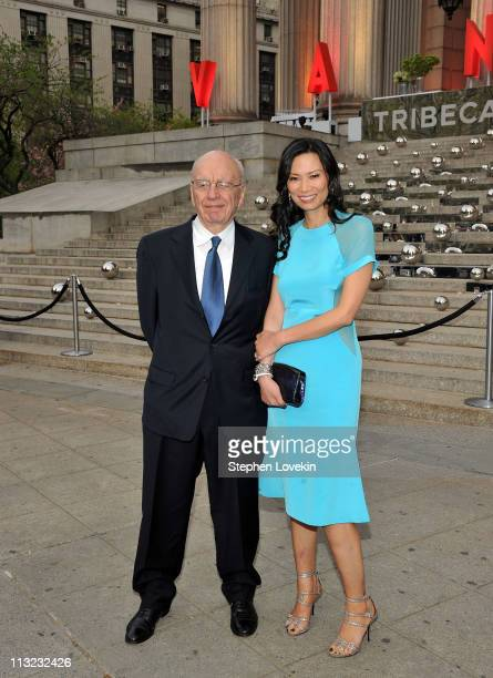 Rupert Murdoch and Wendi Deng attend the Vanity Fair Party at the 2011 Tribeca Film Festival at the State Supreme Courthouse on April 27 2011 in New...