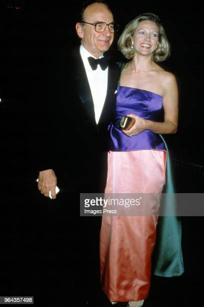 Rupert Murdoch and wife Anna Murdoch Mann circa 1989 in New York City