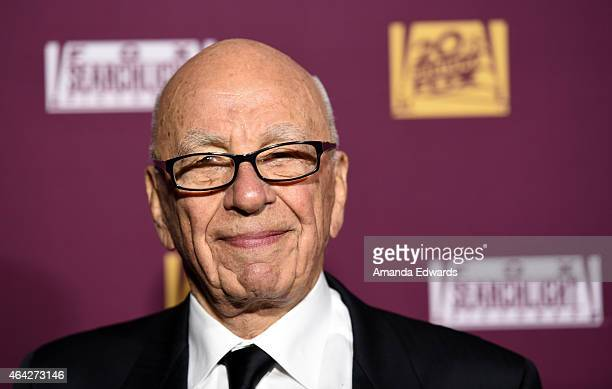 Rupert Murdoch arrives at the 21st Century Fox And Fox Searchlight Oscar Party at BOA Steakhouse on February 22 2015 in West Hollywood California