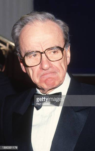 Rupert Murdoch attends 36th Annual Cerebral Palsy Humanitarian Awards at the Waldorf Hotel in New York City on January 10, 1991.