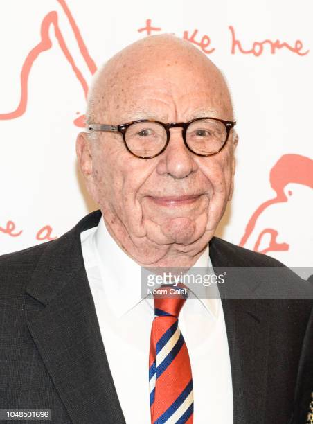 """Rupert Murdoch attends """"Take Home A Nude"""" New York Academy of Art benefit at Sotheby's on October 9, 2018 in New York City."""