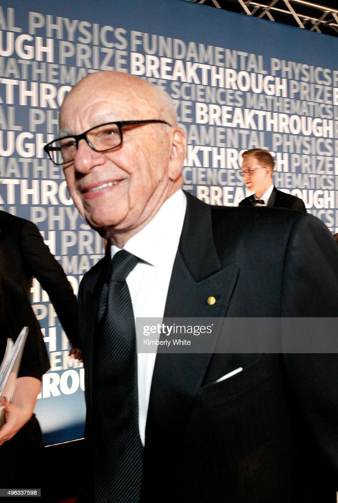 Rupert Murdoch attends the 2016 Breakthrough Prize Ceremony on November 8, 2015 in Mountain View, California.