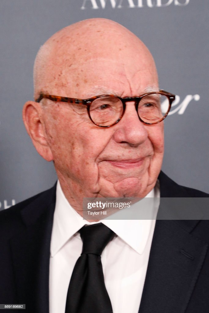 Rupert Murdoch attends the 2017 WSJ Innovator Awards at Museum of Modern Art on November 1, 2017 in New York City.