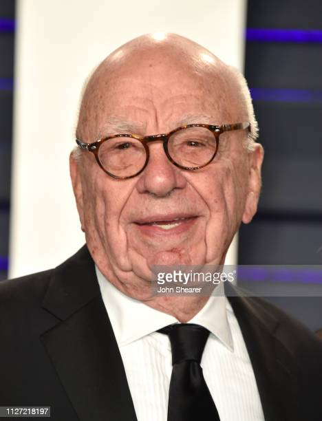 Rupert Murdoch attends the 2019 Vanity Fair Oscar Party hosted by Radhika Jones at Wallis Annenberg Center for the Performing Arts on February 24,...