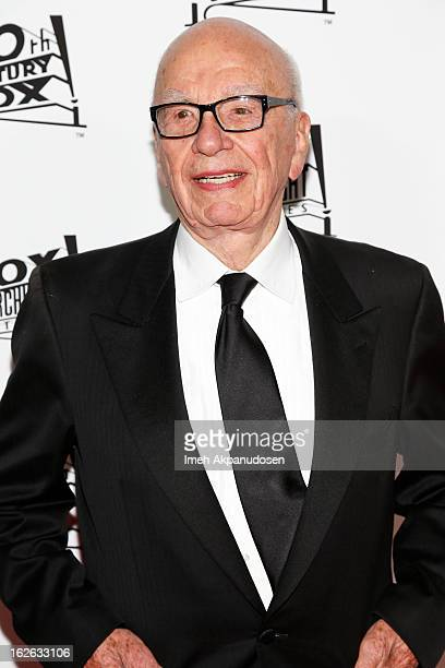 Rupert Murdoch attends the 20th Century Fox And Fox Searchlight Pictures' Academy Award Nominees Celebration at Lure on February 24 2013 in Hollywood...