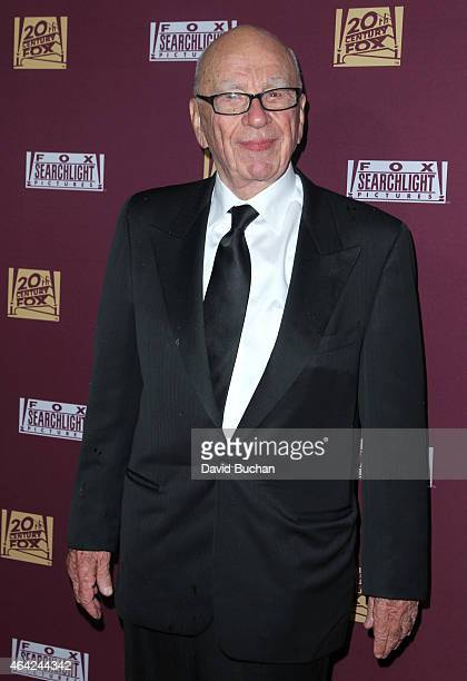Rupert Murdoch attends the 21st Century Fox and Fox Searchlight Oscar Party at BOA Steakhouse on February 22 2015 in West Hollywood California