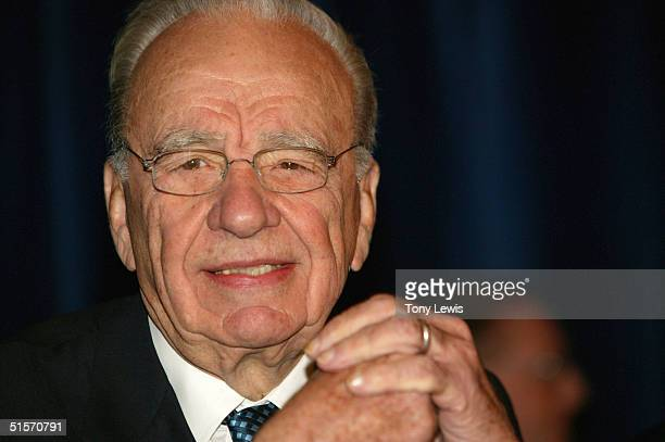 Rupert Murdoch CEO of News Corporation attends the News' annual general meeting October 26 2004 in Adelaide Australia
