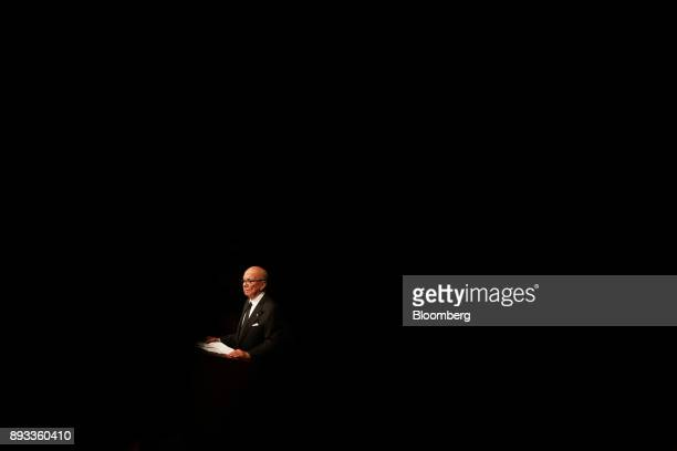 Rupert Murdoch chairman and chief executive officer of News Corp pauses during an event hosted by the Lowy Institute for International Policy in...