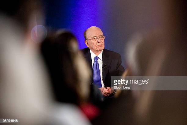 Rupert Murdoch chairman and chief executive officer of News Corp is interviewed at the National Press Club in Washington DC US on Tuesday April 6...