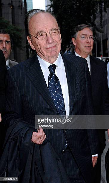 Rupert Murdoch chairman and chief executive officer of News Corp leaves the offices of Wachtell Lipton Rosen Katz after meeting with the Bancroft...