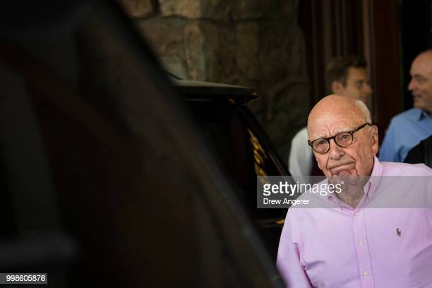 Rupert Murdoch chairman of News Corp and cochairman of 21st Century Fox arrives at the Sun Valley Resort of the annual Allen Company Sun Valley...