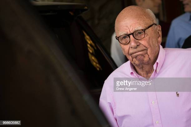 Rupert Murdoch, chairman of News Corp and co-chairman of 21st Century Fox, arrives at the Sun Valley Resort of the annual Allen & Company Sun Valley...